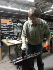 Ryan at Blacksmithing Class